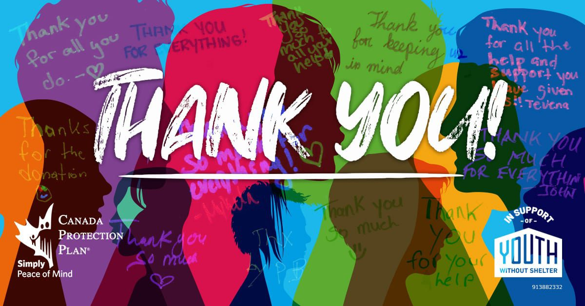 YWF Thank You colorfull concept banner